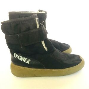 Vintage Technica Waterproof Mid Calf Moon Boots Snow Warm Lined 70s