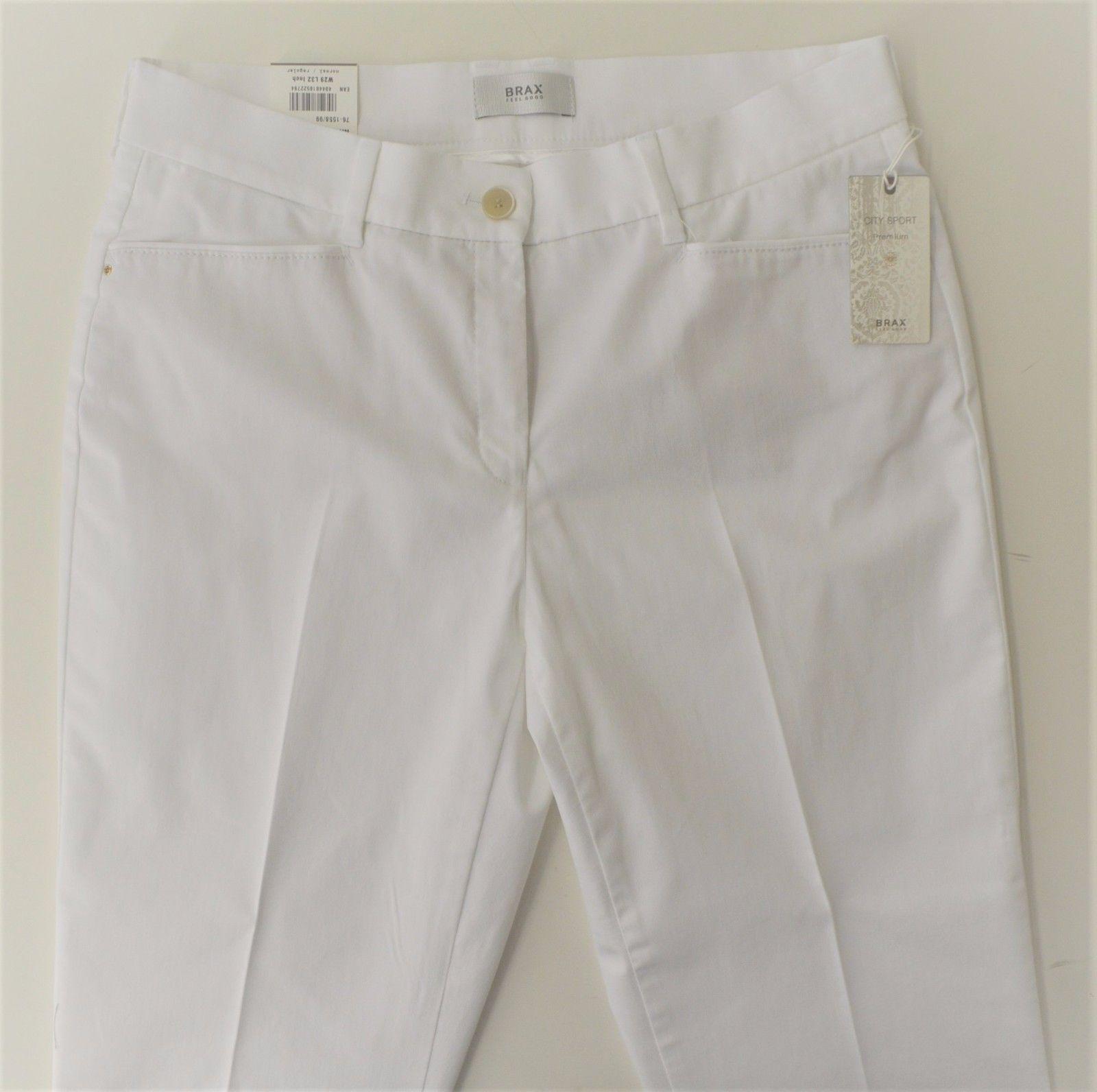 BRAX Mara Sun, modische 7 8 Hose in white, Slim Fit, Stretch, Größe wählbar