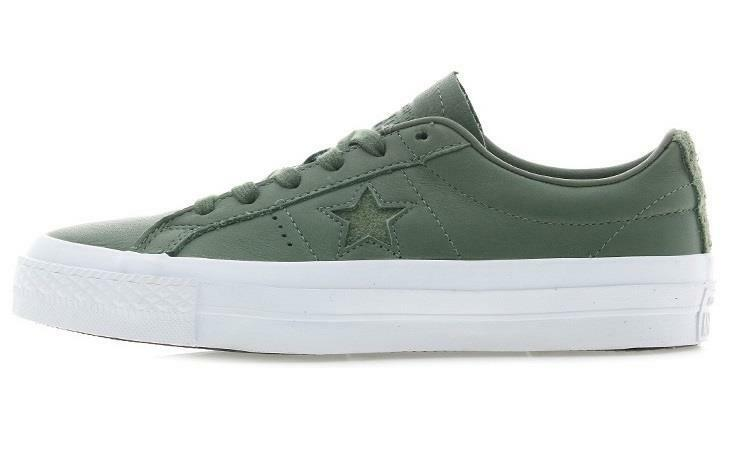 CONVERSE CT CHUCK TAYLOR ONE STAR LEATHER GREEN/WHITE OX 155546C OLIVE SUBMARINE GREEN/WHITE LEATHER 42a6e4