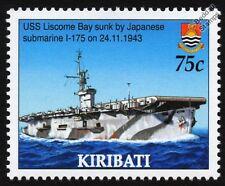 USS LISCOME BAY (CVE-56) Casablanca-Class Escort Aircraft Carrier Warship Stamp
