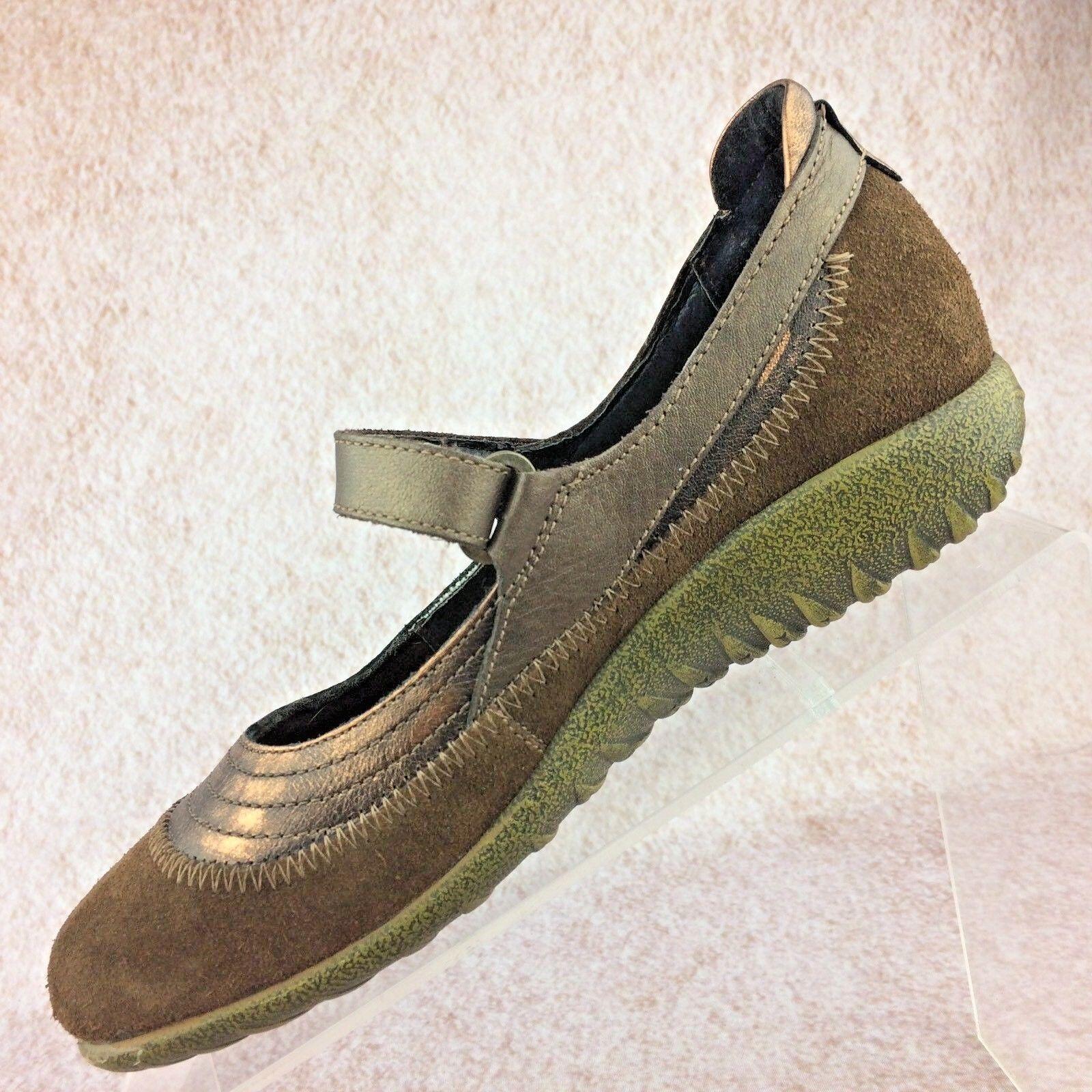 Naot Kirei Mary Jane Schuhes Metallic Bronze Leder EU/ Braun Suede, Größe 36 EU/ Leder 5 US 725ade