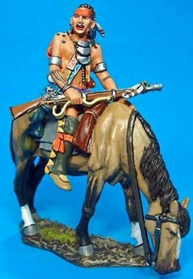 JOHN JENKINS RAID ON ST. FRANCIS RSF-20 MOUNTED WOODLAND INDIAN MIB