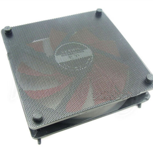 5X120mm Cuttable Black PVC PC Fan Dust Filter Dustproof Case Computer MeshFDCA