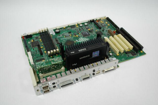 HP VECTRA D6550-60001 VB-609 SLOT1 MOTHERBOARD w//Intel PII SL2S5 333MHz /& 128MB