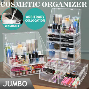 Cosmetic-Organizer-Clear-Acrylic-Jewellery-Box-Makeup-Storage-Case-Drawers