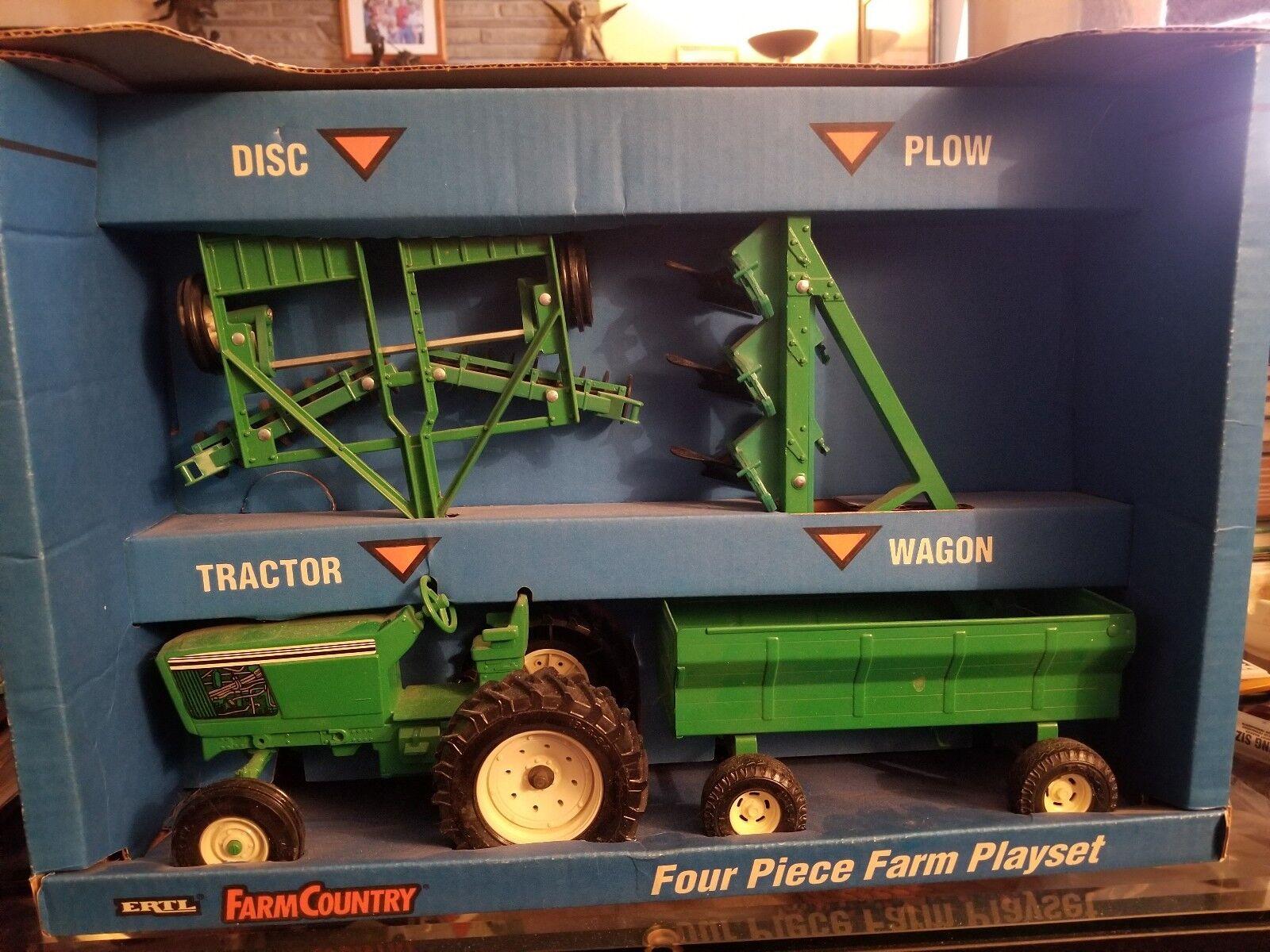VINTAGE échelle 1 16 John Deere ERTL co. 4 pièces  ferme tracteur set - 1993 nouveau in Box  marques de mode