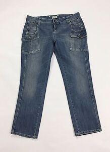 Jeans Strass Blu Pinko W32 Borchie Slim Skinny 46 Donna Tg Usato UCxqdHw