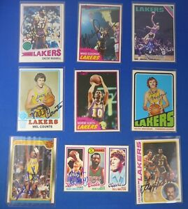 Los-Angeles-Lakers-signed-autograph-9-card-LOT-Scott-Cooper-Hudson-deceased