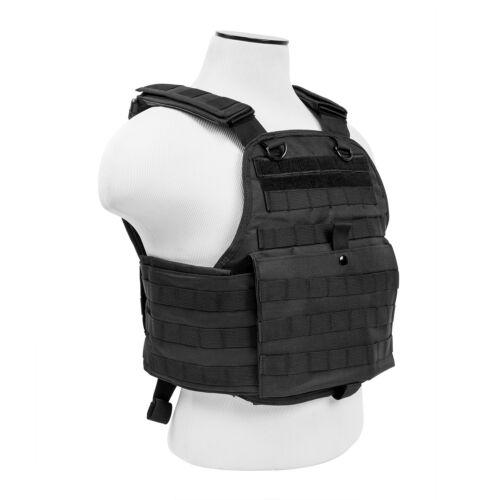 L Black Tactical Plate Carrier Vest Molle Armor Chest Assault Rig Med