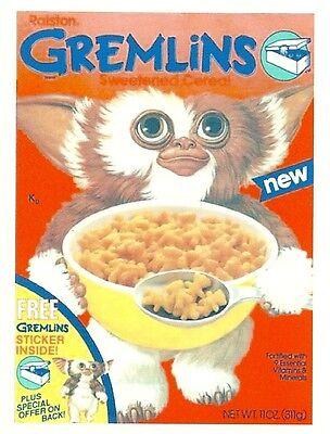 GREMLINS Cereal Box  Retro Vintage HQ  Fridge Magnet