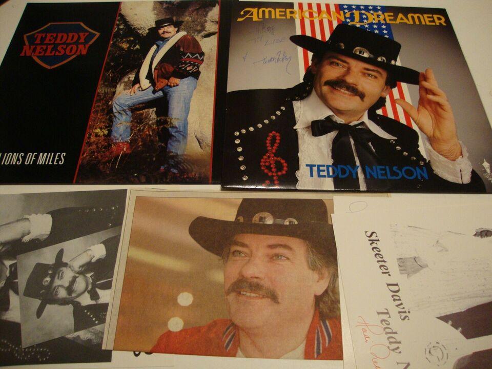 """LP, TEDDY NELSON, """" LPèr med Teddy Nelson m. autografer og"""