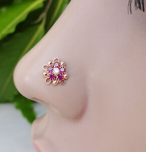 Diamond Nose Pin Gold Nose Hoops Nose Screw Stone Nose Stud 925