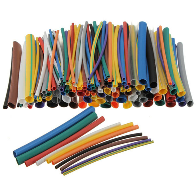 Soloop 144pc 2:1 6Size Heat Shrink Tube Tubing Sleeve Sleeving 12 Color Wire Kit