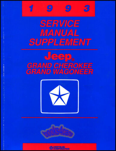 SHOP MANUAL JEEP SERVICE REPAIR 1993 BOOK GRAND CHEROKEE WAGONEER 42RE AUTOMATIC
