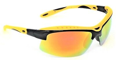 Peak  Sunglasses Yellow Mirror Multi-coat Cat-3 UV400 Shatterproof Lenses