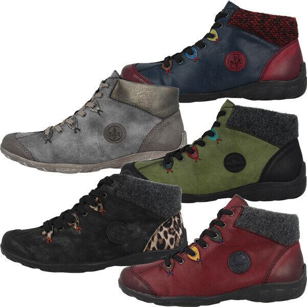 Rieker Schuhe Sneaker L6513 Eagle Top Antistress Damen High Boots Schnürschuhe l1FJK3Tc