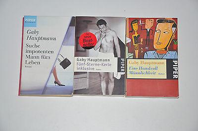 Bücherpaket 3x Romane Gaby Hauptmann, Fünf-Sterne-Kerle inlusive, Suche imp...