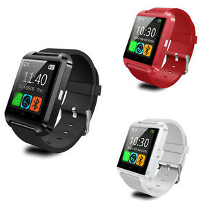 U8 Bluetooth Smart Notification Wrist Watch for Smart Phone with Touch Screen