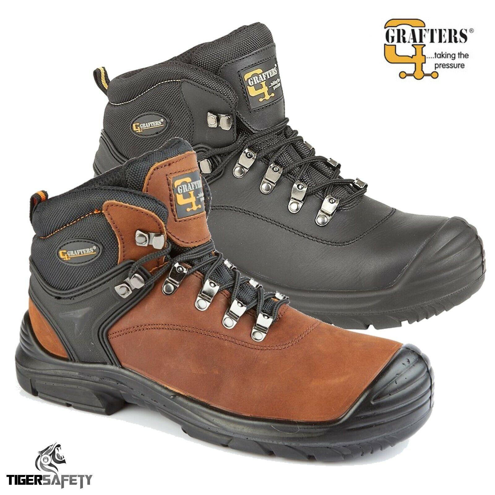 Grafters M9508 Mens S3 SRC Waterproof Wide Fitting EEEE Steel Toe Safety Boots
