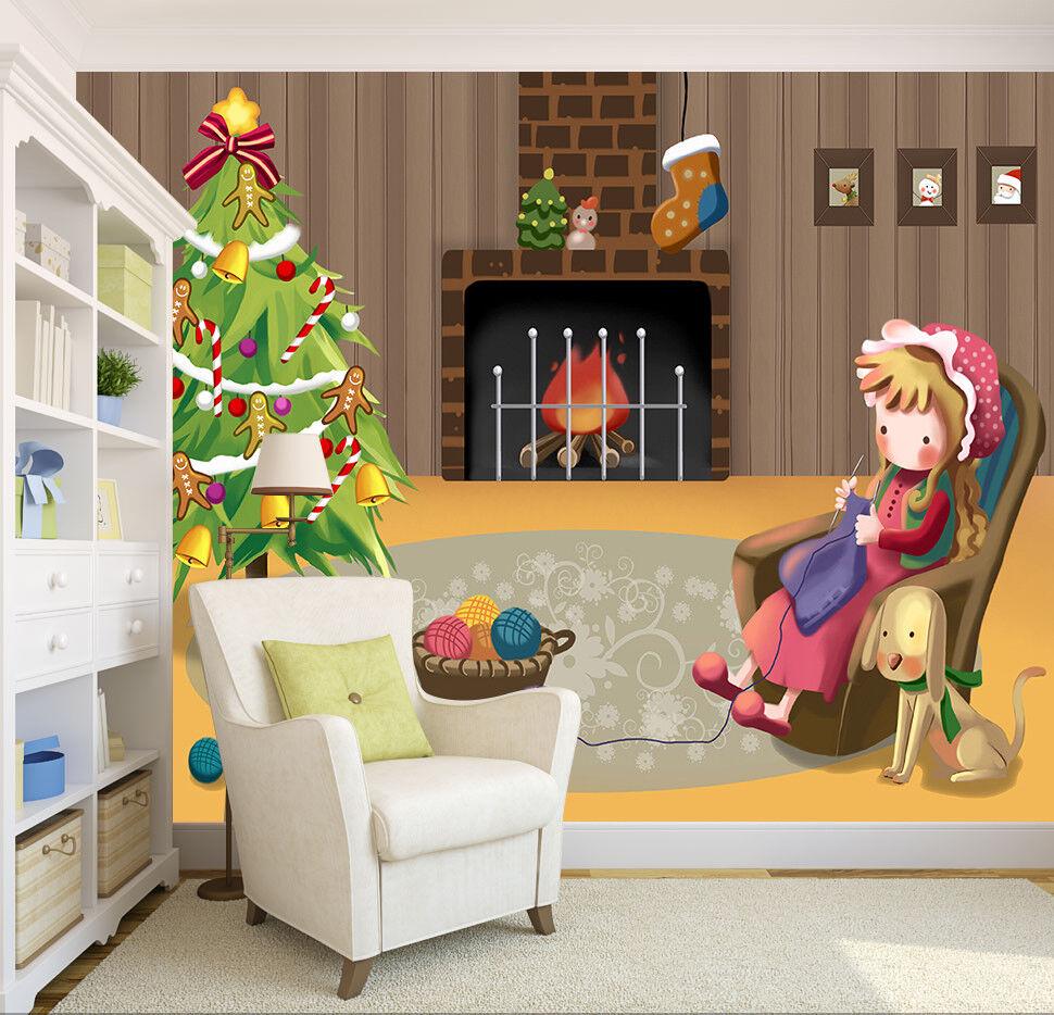 3D Fireplace Tree 67 Wallpaper Murals Wall Print Wallpaper Mural AJ WALLPAPER UK