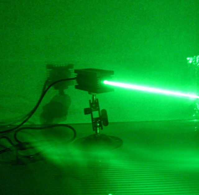 1 year warranty real 200mw 532nm green laser module with bracket +power adapter