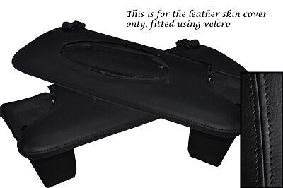 Black stitch fits BMW SÉRIE 6 E24 76-90 2x pare-soleil cuir couvre uniquement