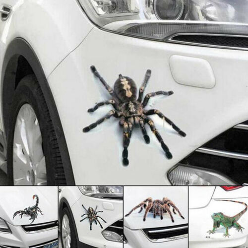 2x 3D Creepy Spider Crawling Vinyl Decal Hood Window Sticker Car Truck Vehicle