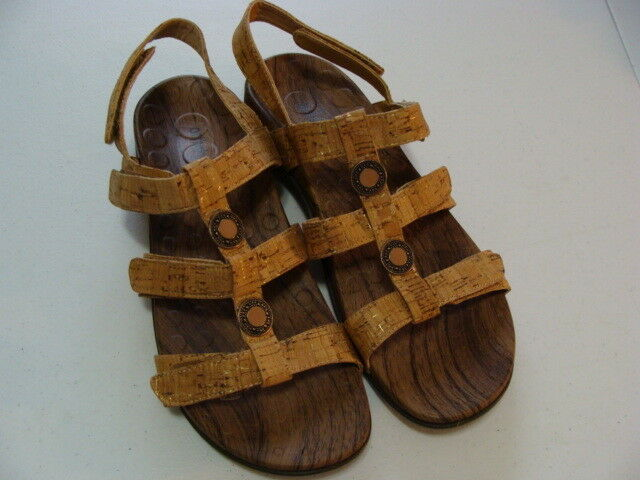 ORTHAHEEL TECHNOLOGY YASMINII TAN CORK LAMINATE SANDALS - EUR. 42 - US. 11 NWOB