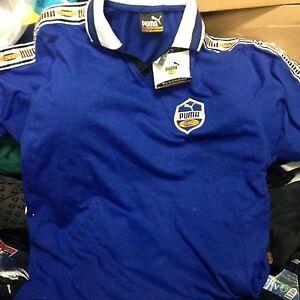 Puma-King-T-Shirt-Top-en-petites-ou-X-L-34-36-42-44-Homme-a-10-coton-bleu