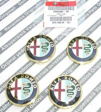 100% GENUINE ALFA ROMEO GT & MITO & 4C  New Alloy Wheel Center Caps Set 50mm