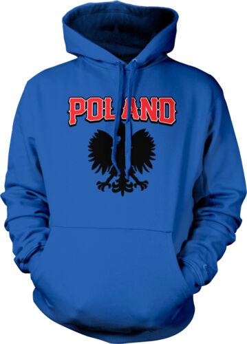 Poland Text Eagle Polish Pride Polska Flaga Duma Hoodie Pullover