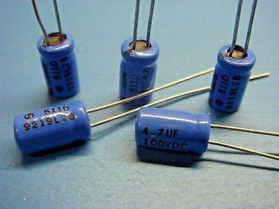 20 pcs x 4.7uF 50V105℃ Electrolytic Capacitor 5x11 Radial SALE 50V 4.7UF