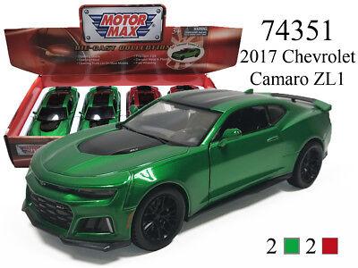 Motormax 2017 Chevrolet Camaro ZL-1  1//24 scale new in box silver exterior