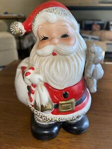 Vintage-Homco-Santa-Claus-Piggy-Bank-Christmas-Decoration-Figurine-5610-Decor