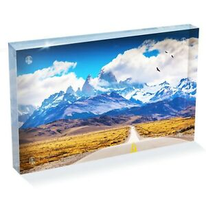 """Awesome Canada Sign Mountain Photo Block 6 x 4/"""" Desk Art Office Gift #14264"""