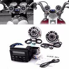 Waterproof Motorcycle Bike Audio FM Radio MP3 Player W 2 Speakers in Handlebar