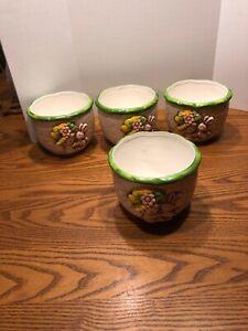 Set-Of-4-Identical-Vintage-D-Ann-Imp-Bunny-Ceramic-Planters-Made-In-Japan-67-042