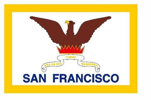 Decal F683 San Francisco California Flag Sticker