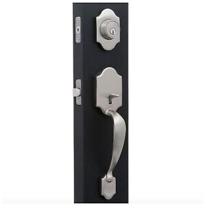 Home entry exterior front door knob handle handleset deadbolt dead bolt lock set 640716379771 ebay for Exterior door handle and lock set