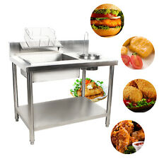 New Multi Purpose Breading Table Fried Food Prep Worktop Station Chicken Fry