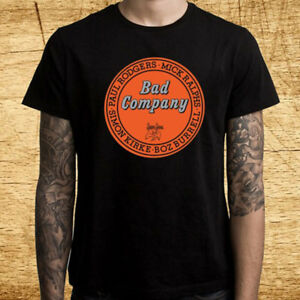 New Bad Company Live At L A Forum 1976 Men S Black T Shirt Size S 3xl Ebay