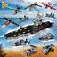 PANLOS-633003-Militaer-Serie-Flugzeugtraeger-Modell-Blocks-Bausteine-8in1-Geschenk Indexbild 1