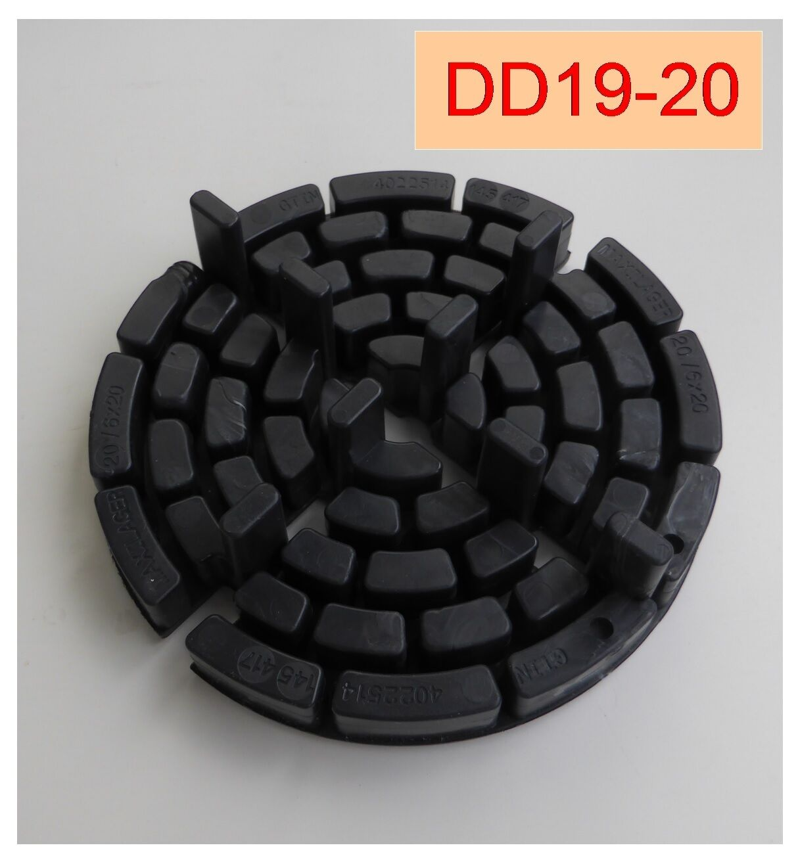 120 Plattenlager DD19-20, 20mm hoch, Steghöhe 20mm, Fuge 4mm, 150mm Durchm. ,,