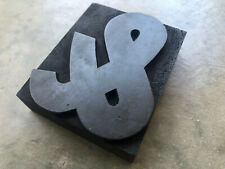 Antique Letterpress Wood Type Printers Block Dark Beautiful And Ampersand Amp