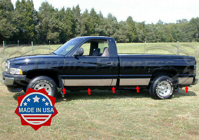 "1994-1997 Dodge Ram Extended Cab Long Bed Rocker Panel Molding Trim 8.5/"" 12PC"