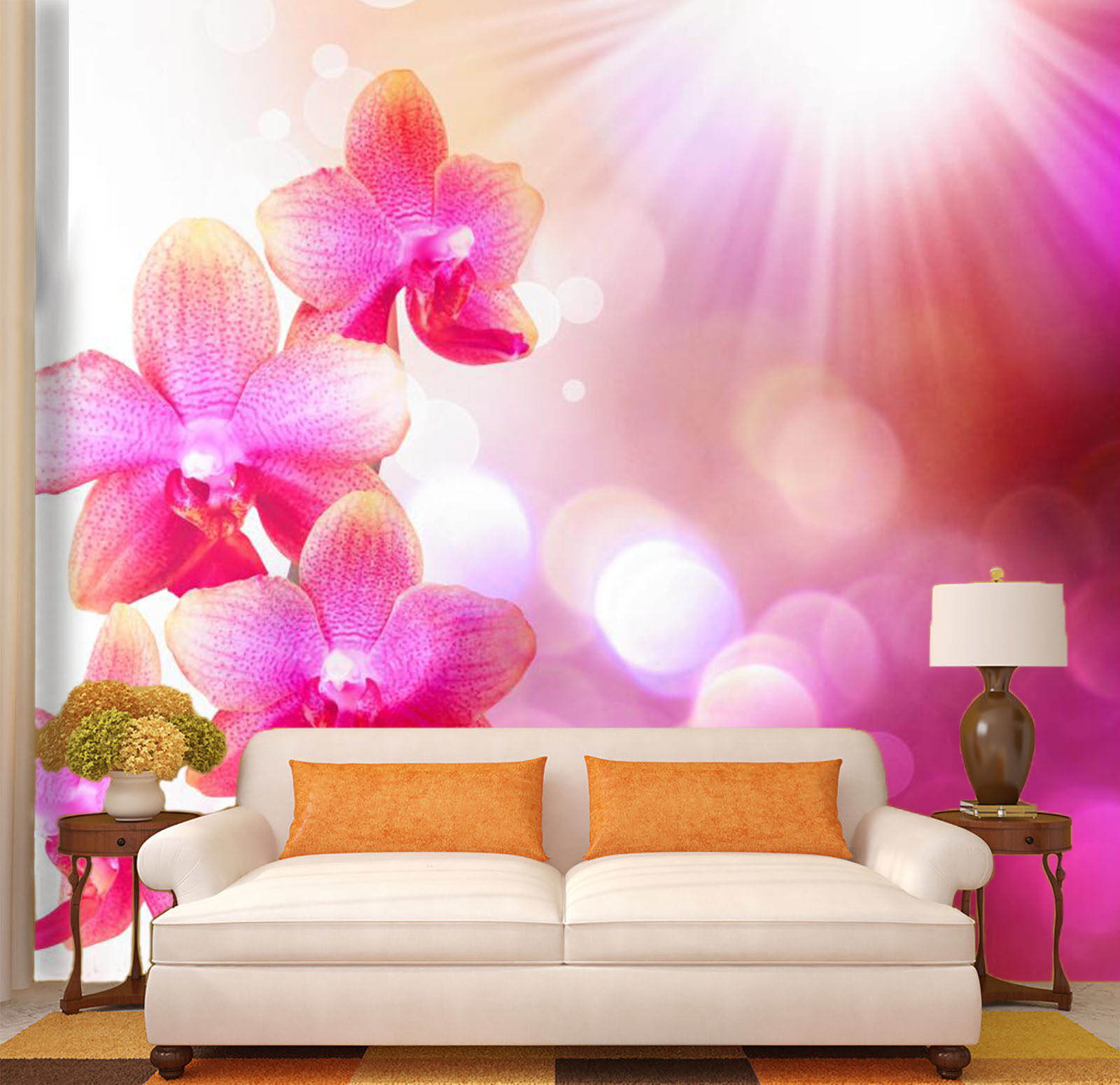 3D flower Bloom sunshine Wall Paper wall Print Decal Wall Deco Indoor wall Mural