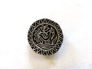 Holz-Stempel-Ornament-Vogel-Nr-1534-Textilstempel-Hennastempel