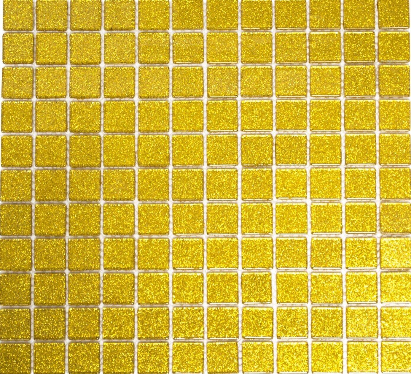 Mosaïque translucide crystal or martelé cuisine mur toilet 60-0707_f  10 plaques