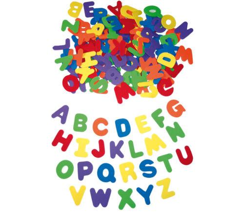Moosgummi GROßBUCHSTABEN Alphabet Buchstaben Moosgummibuchstaben bunt 130 Stück