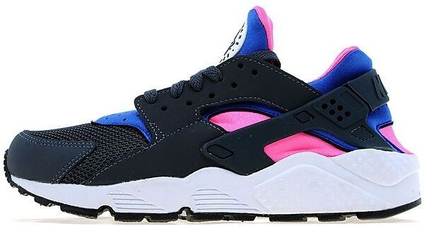2018 Women/Junior Nike Air Huarache Dark Gray/Cobalt Magenta All Comfortable New shoes for men and women, limited time discount